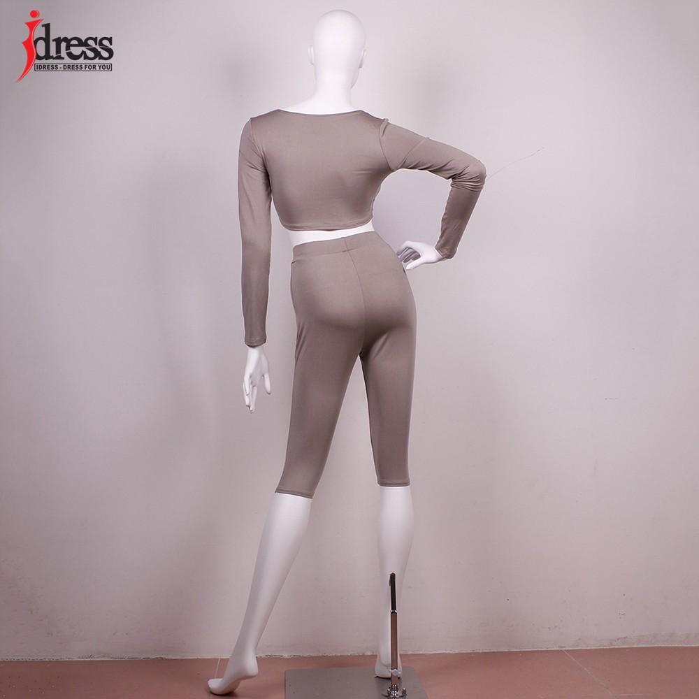 IDress Women Two Piece Bodycon Jumpsuit Playsuit New 2016 Summer Knee Length Black Bodysuit Sexy Club Elegant Rompers Womens Jumpsuit (5)