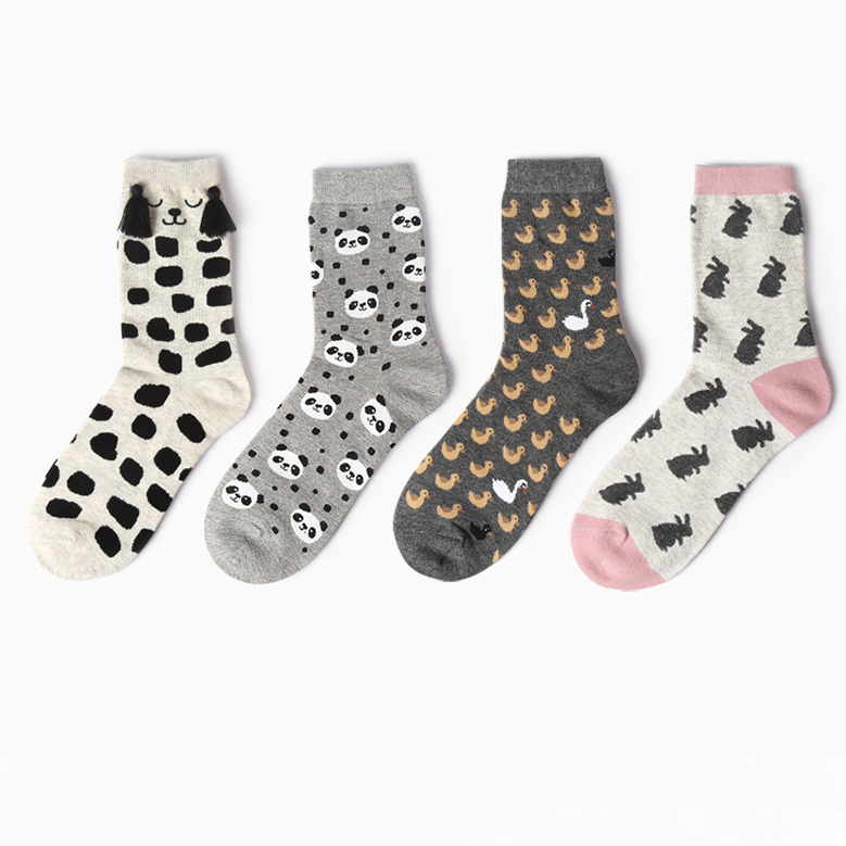 New autumn 12 colors women girl cotton   socks   Animal cartoon long Japanese style fashion EUR 35-40 1539