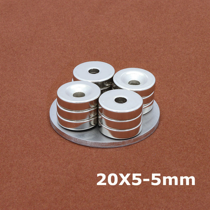 Strong N35 Round Neodymium Counter Sunk Magnets 25X3mm Hole5mm Rare Earth 5Pcs A