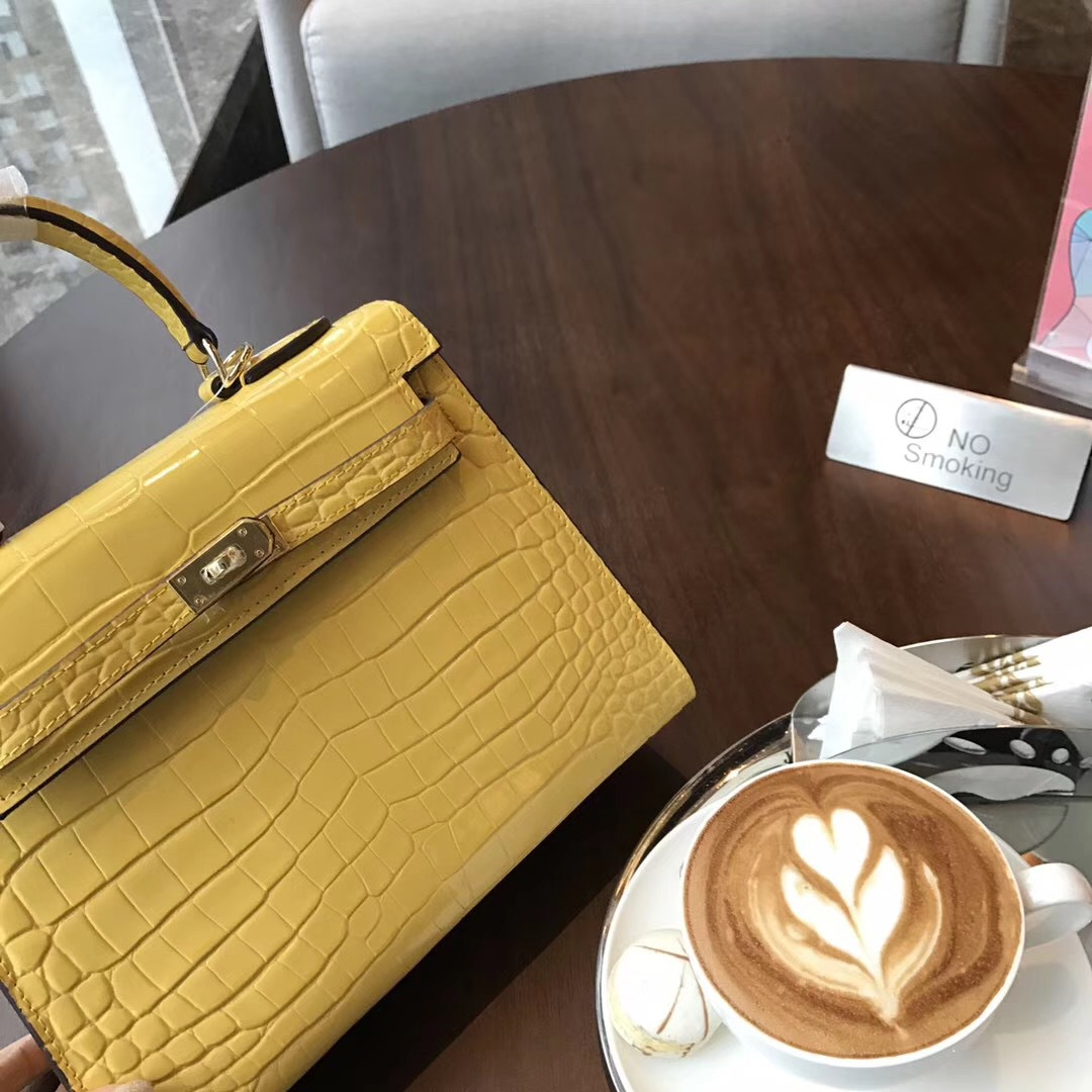 Crocodile motif femmes sac à bandoulière jaune en cuir véritable Messenger sacs sacs à main femmes marques célèbres Bolsa Feminina