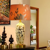 art style Ceramic table lamps living room bedroom lamp bedside lamp golden luxury decoration table light ZA1120611