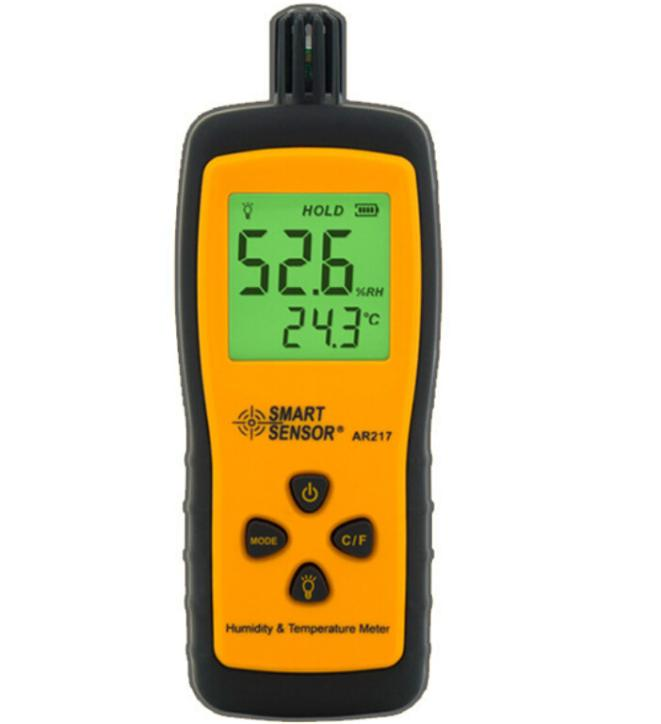 Mini-Type Humidity Temperature Meter AR217 Handheld Hygrometer Thermometer Tester digital indoor air quality carbon dioxide meter temperature rh humidity twa stel display 99 points made in taiwan co2 monitor