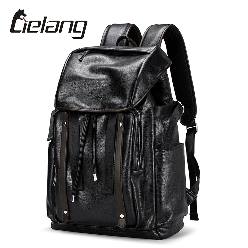 LIELANG Backpack Men Fashion Leather Backpacks Anti-theft Bags Preppy Style College Teenager School Bag For 15.6 Inch Laptop men usb charge backpack anti theft laptop backpacks large capacity fashion school bags boys teenager casual rucksack bag bp0165