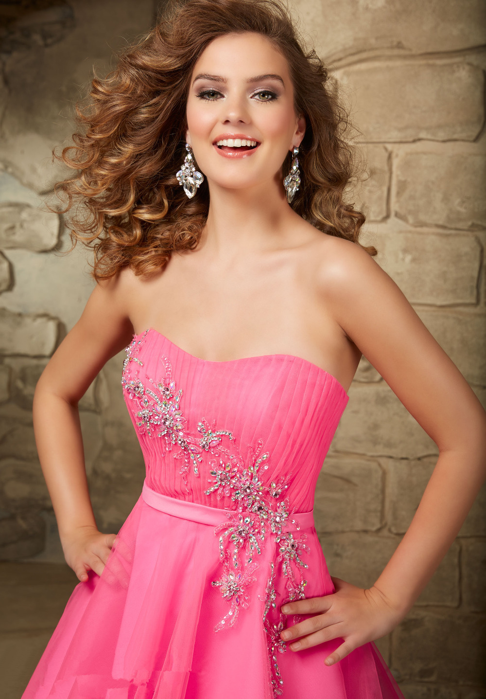 Hot Pink Short Homecoming Dresses For Prom 8th Grade Graduation ...