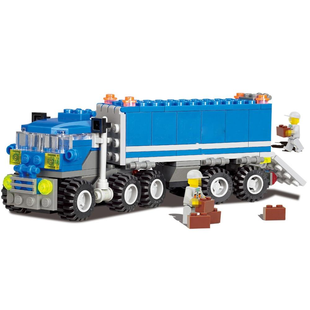 163pcs City Building Blocks DIY Truck car Model Bricks Toys Sets Educational Toy For Children compatible with legoed