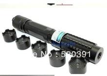Sale Super Powerful Blue Laser Pointers 100000mw/100W 450nm Flashlight Burning Match Dry wood/Black/Burn Cigarette+5 Caps+Glasses+Box