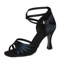 Zapatos De Baile Latin Dance Shoes Black Tan Khaki Purple Color Shoes Latin Salsa Professional Dance Women L 048