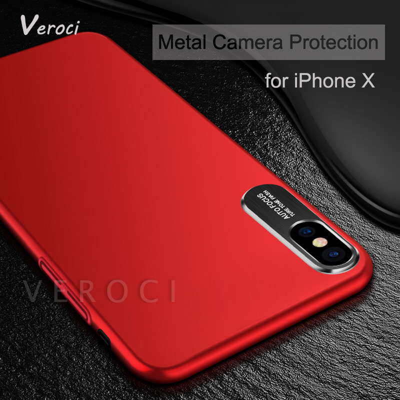 New for iPhone X Case Luxury Business Style Metal Phone Camera Protection Case Cover for Samsung galaxy s8 s9 plus Note 8