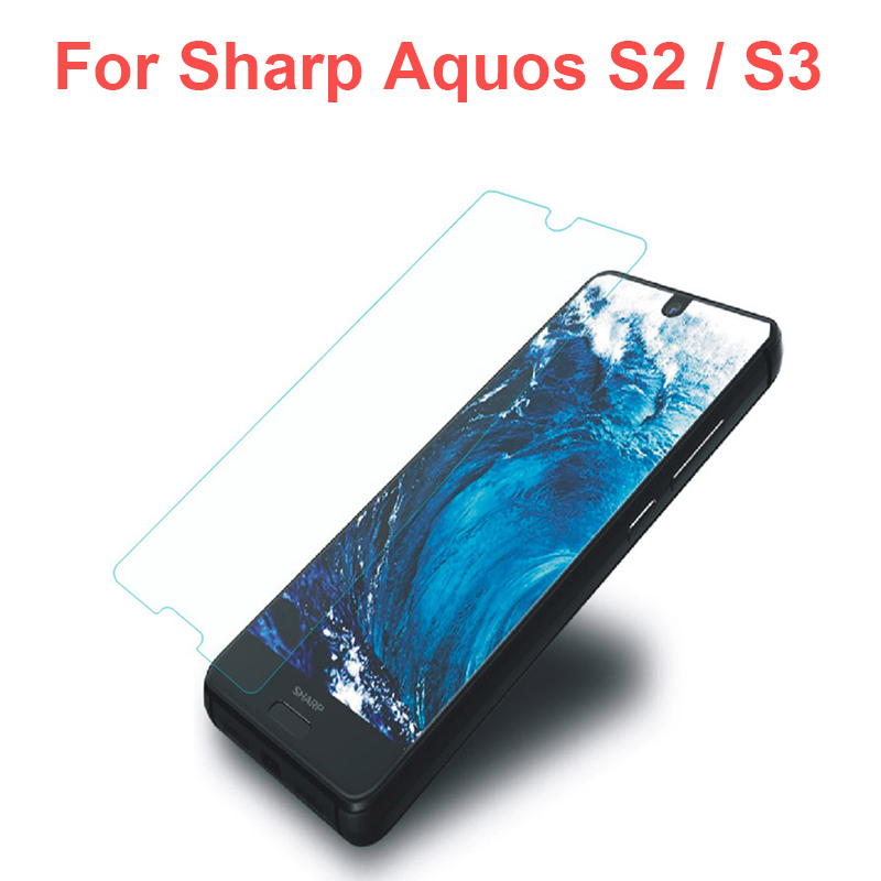 2PCS For Sharp Aquos S2 S3 Tempered Glass Ultra-thin Clear Screen Protector for Sharp S2 S3 Original Protective Glass Front Film