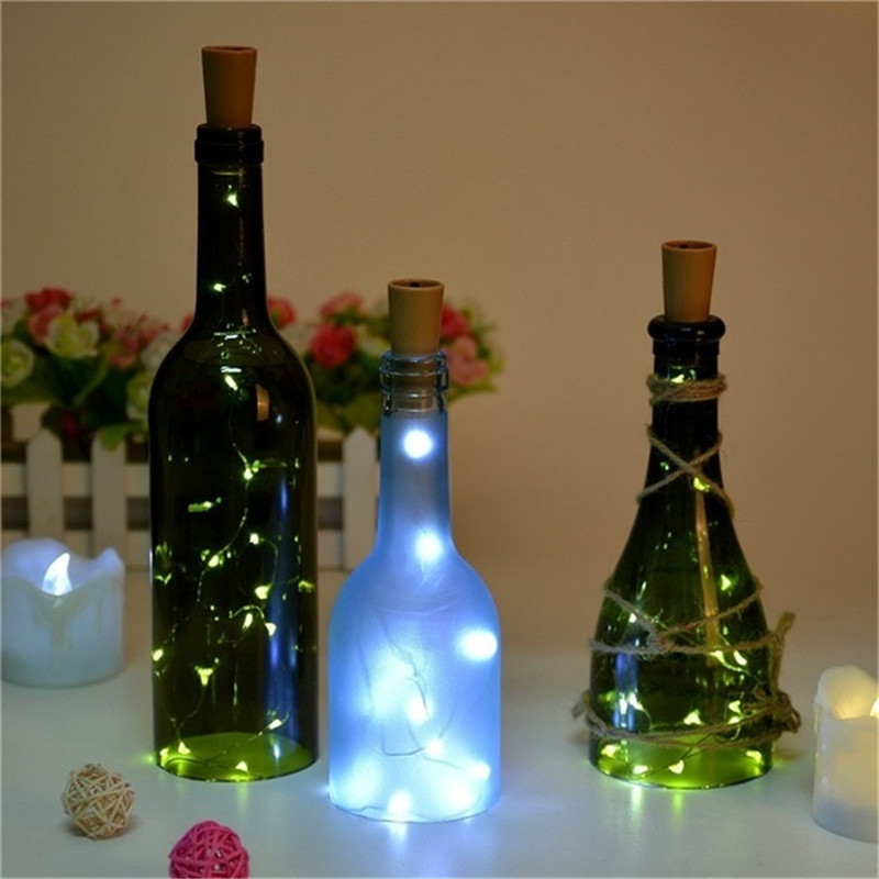 Wine Bottle Cork Lights Copper Wire String Lights for Wedding Festival Party Decor 1