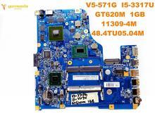 Original for ACER V5-571G laptop motherboard V5-571G I5-3317U GT620M 1GB 11309-4M 48.4TU05.04M tested good free shipping