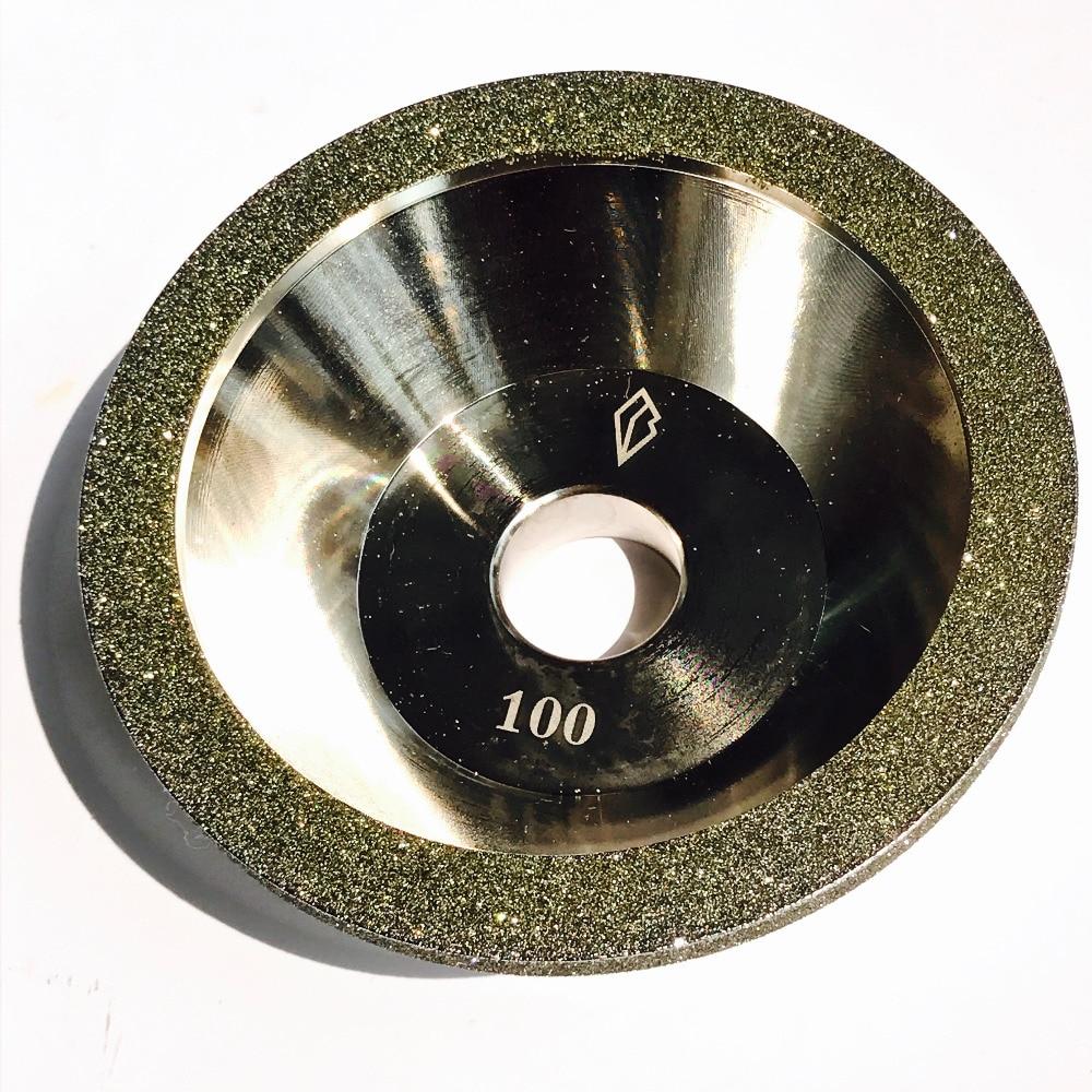 цена на Free shipping of 1pc high quality 80-600# 100D*10W*5U*20H*35T alloy wheel bowl diamond grinding wheel for alloy blade sharpening