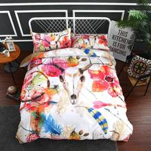 Rose Red Bull Girls Bed Euro Pink Bedding Pink Dream Catcher Bedding Set Cocorful Bedspread Bed Set 3pcs housse de couette C