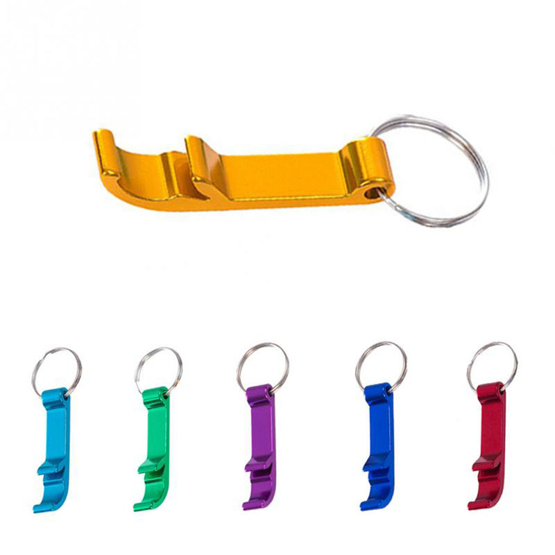 4 In 1 Bottle Opener Keychain Pocket Aluminum Beer Opener Can Personalized Logo Openers Wedding Favor Gifts