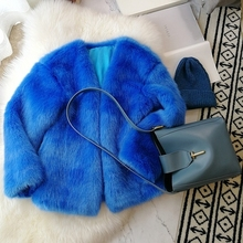 2018 New Style High-end Fashion Women Faux Fur Coat S14