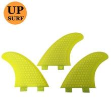 Surfing FCS Fins GX Size Honeycomb Fibreglass Fin Orange Surf Quilhas