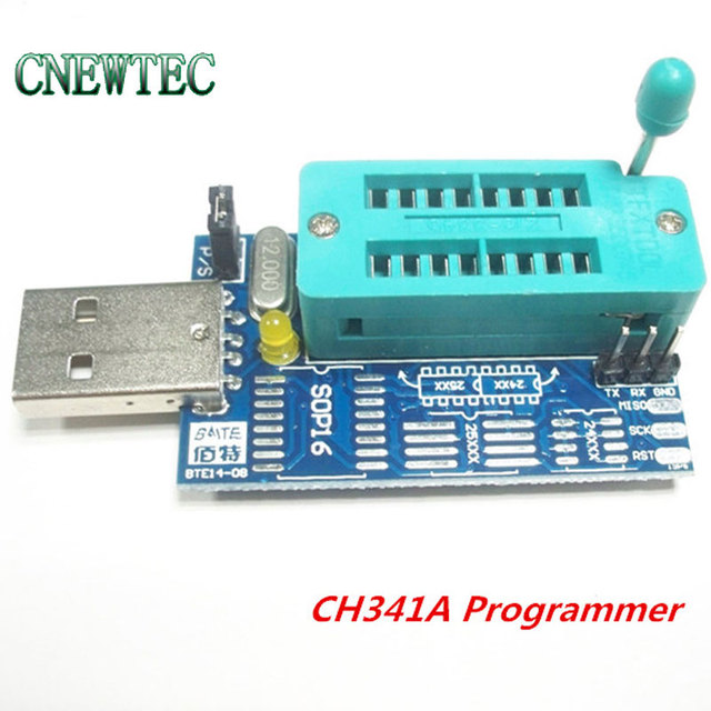 US $2 95 |Bios Board MX25L6405 W25Q64 USB Programmer LCD Burner CH341A  Progammer for 24 25 Series-in Integrated Circuits from Electronic  Components &