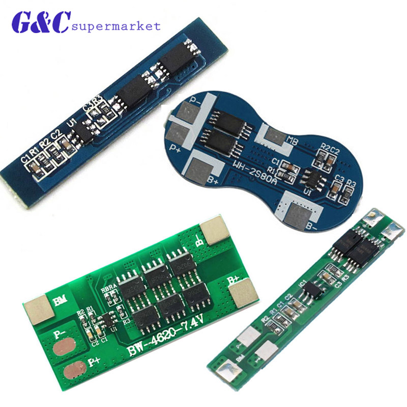 2S 3A 4A 6A 12A BMS <font><b>18650</b></font> Li-ion Lipo Lithium Battery <font><b>Protection</b></font> <font><b>Circuit</b></font> Board Module PCB PCM <font><b>18650</b></font> Lipo BMS Charger image