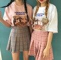 Harajuku 2016 de Las Mujeres de Moda de Verano Faldas falda a cuadros falda plisada Viento Cosplay kawaii Femenino estilo de Muy Buen Gusto