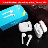 Оригинальный 1:1 наушники i11 СПЦ беспроводной сенсорная гарнитура Bluetooth 5,0 стерео наушники для apple iPhone 8 i10 не Airpods аурикулярная