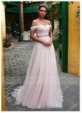 SoDgine Pink Princess Bridal Dress 2019 Off The Shoulder Wedding Dresses Romantic Vestido de noiva  Lace Up back gown