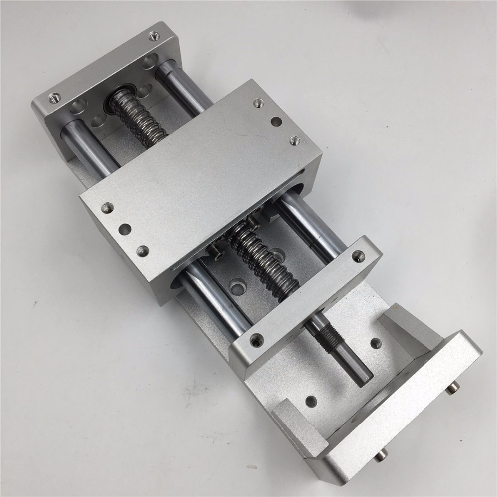 CNC Ballscrew Sliding Table 1605 500mm Effective Stroke Guide Rail XYZ Axis Linear Motion+1pc Nema 23 Stepper Motor cnc stk 8 8 ballscrew screw slide module effective stroke 150mm guide rail xyz axis linear motion 1pc nema 23 stepper motor