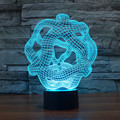 Amazing 3D Glow Night Light, USB Powered Optical Illusion LED Lighting with 7 Colors Changing for Holiday