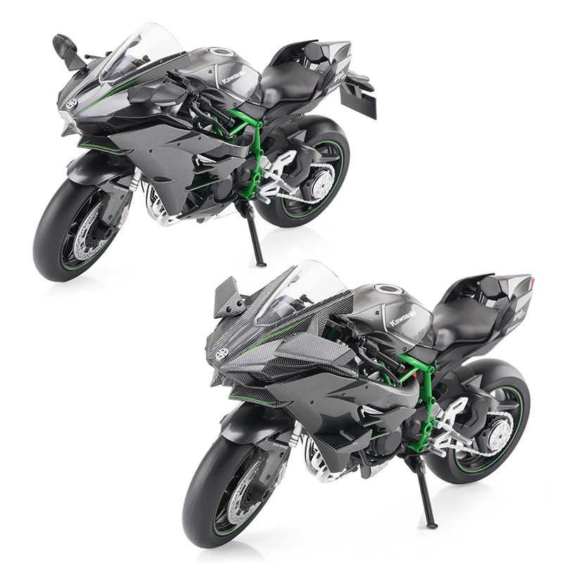 1:12 Scale Aoshima Diecast Kawasaki Ninja H2/H2R Motorcycle Toys Collecion  Racing Bike Models for Kids Gift