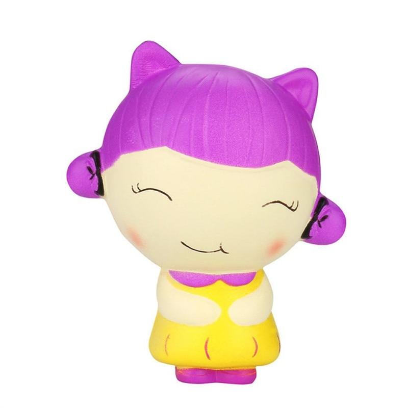Jumbo Chinese Girl Cartoon Squishy Slow Rising Squeeze Toy Gift Fun New Phone Accessories Kawaii Mini Soft Silicone Squishi Hand