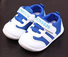 baby tennis shoes trainers for baby girls boys toddler shoes stripes zapato flexible sole chaussure bebe kids sport shoes 2018(China)