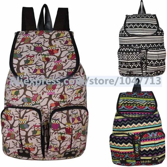 woman shoulder bag two straps little owl belt bags_school retro ...