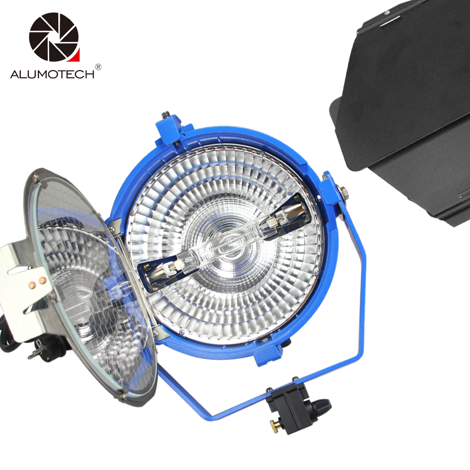 ALUMOTECH Compact 2000 w Lumière Tungstène Avec Verre Anti-uv + 220 v Ampoule Globe + Barndoor Pour Studio Vidéo photographie