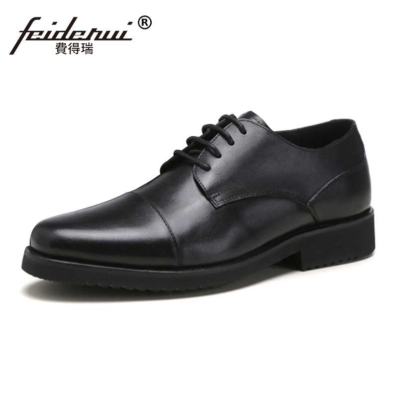 New Arrival Genuine Leather Man Formal Dress Wedding Shoes Fashion Round Toe Lace up Banquet Party Mens Derby Footwear SS28New Arrival Genuine Leather Man Formal Dress Wedding Shoes Fashion Round Toe Lace up Banquet Party Mens Derby Footwear SS28