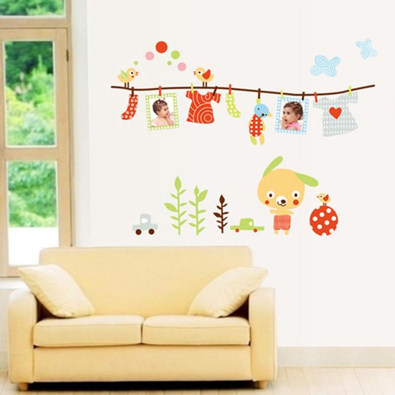 Wall Stickers Nurser Family Photo Frame Kids Room Home Decor Decal ...