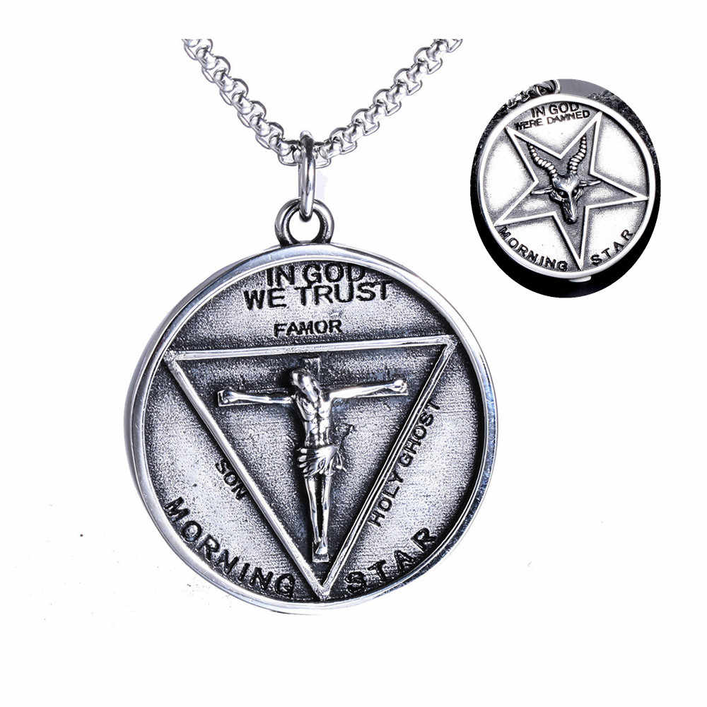 Lucifer Morningstar Cosplay Ketting Film Lucifer Rvs Cosplay Accessoires