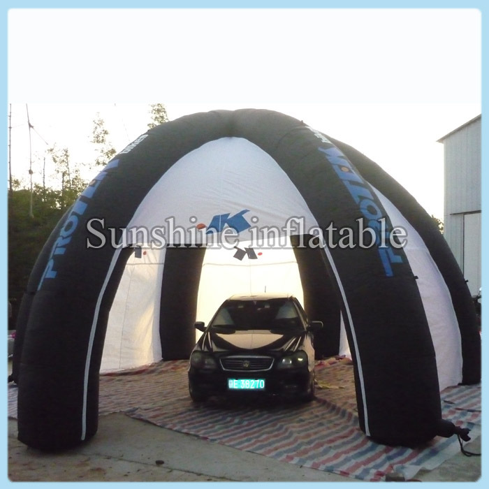 Outdoor portable Garage painting workstation shelter inflatable car tent with blower for sale & Top quality outdoor portable white inflatable stage tunnel tent car ...