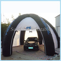 Outdoor portable Garage painting workstation shelter inflatable car tent with blower for sale