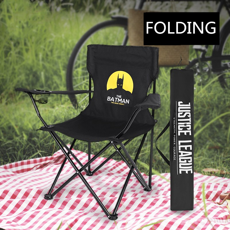 Portable Folding Fishing Chair Camping Chair Seat 600d Oxford Cloth Waterproof Metal Armchair For Outdoor Picnic Beach Chaise Providing Amenities For The People; Making Life Easier For The Population Beach Chairs Furniture
