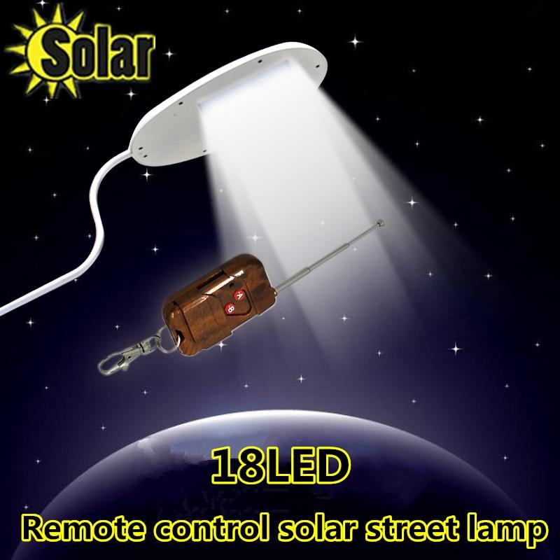 2016NEW Remote control 18 LED Solar Powered Panel LED Street Light Solar Sensor Lighting Outdoor Path Wall Emergency Lamp цена