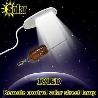 2016NEW Remote Control 18 LED Solar Powered Panel LED Street Light Solar Sensor Lighting Outdoor Path