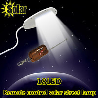 2016NEW Remote Control 18 LED Solar Powered Panel LED Street Light Solar Sensor Lighting Outdoor Path