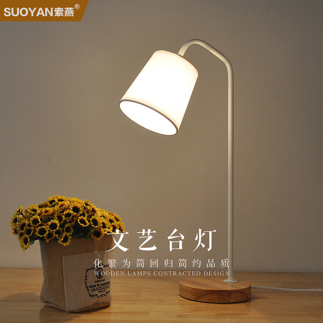 Study Work Office Students Reading Bedroom E14 Wood Products+WROUGHT IRON  Table Lamp