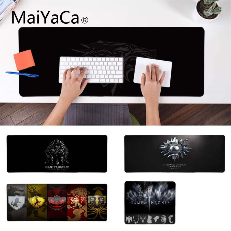 MaiYaCa Your Own Mats Game Of Thrones Customized Laptop Gaming Mouse Pad Laptop Gaming Lockedge Mice Mousepad