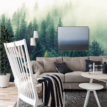 3D , 5D & 8D Wallpaper  Mural with Nature Fog and Forest Trees