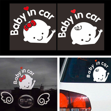 3D BABY IN CAR Reflective Sticker Vinyl Car Whole Body Car-Styling Warning Motorcycle Accessories