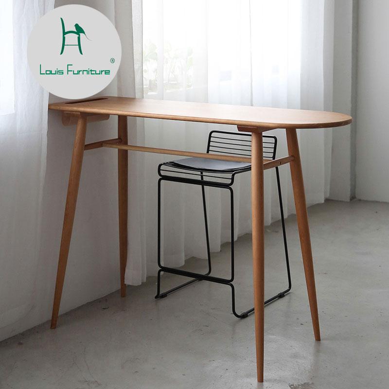 Louis fashion Bar Tables Original furniture solid wood cherry black walnut Nordic barsmall household