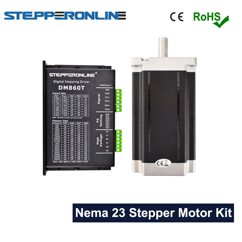 1 Axis Nema 34 CNC Kit 13 0Nm DM860T Digital Stepper Driver 2 4 7 2A