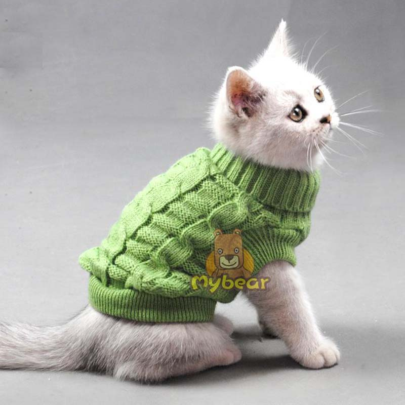 Cute Pet dog cat crochet knit Sweater sweatershirt Pullover spring small dog Chihuahua Yorkshire Coat jacket Cothes for pet