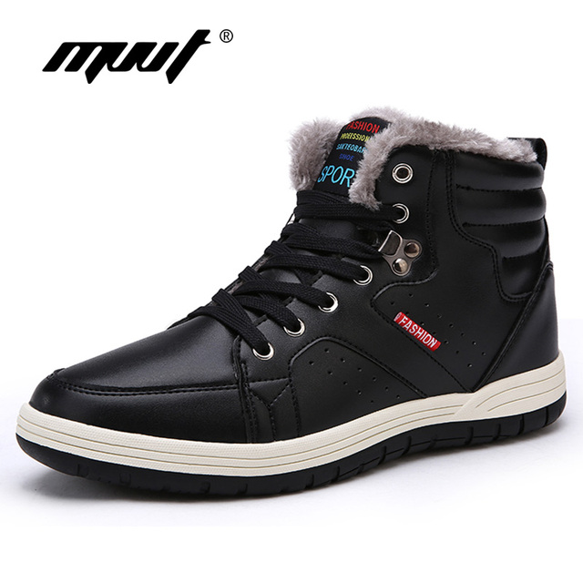 Super Warm Men Winter Boots Men High Quality Snow Boots For Men Waterproof Warm Shoes With Fur Men's Ankle Boots