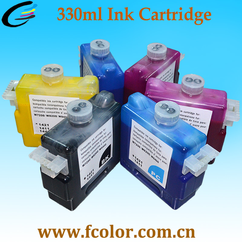 цена High Quality compatible BCI1421 Ink Cartridge for Canon W7200 W8200 W8400 ink cartridge